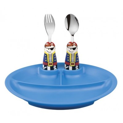 Eat4Fun Pirate 3pc Plate Set