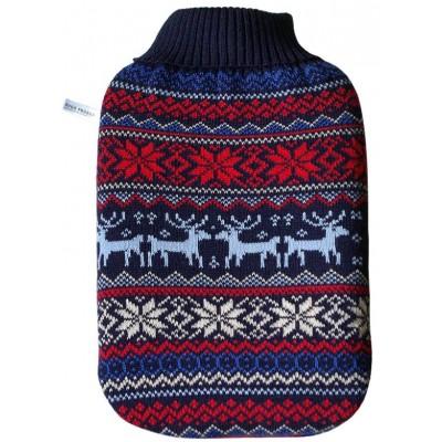 Europa Brands Hugo Frosch Eco Hot Water Bottle Luxury Knitted Norwegian Cover 2 L