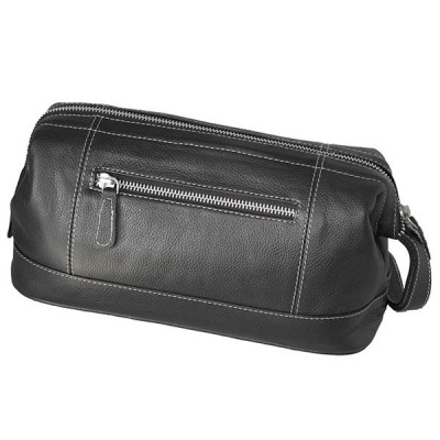 Europa Brands Sonnenschein Leipzig Leather Toiletry Bag