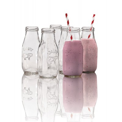 Avanti Glass Milk Bottle 6 Piece Set