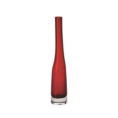 Krosno Sashay Bud Vase 38cm Ruby