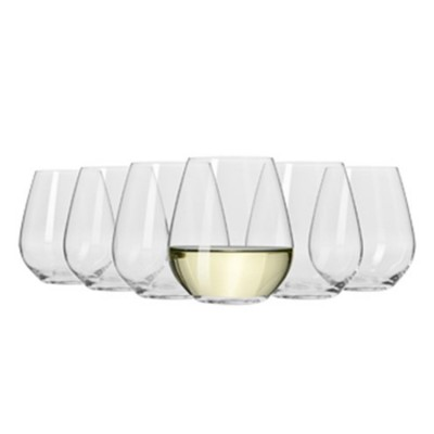 Krosno Set of 6 Flair Stemless White Wine Glass 420ml