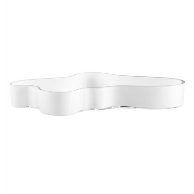 Iittala Aalto Bowl 38cm White Opal Mouth Blown