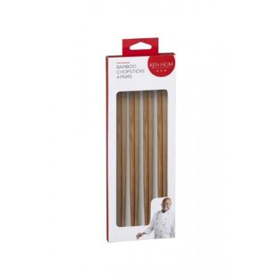 Ken Hom Bamboo Chopsticks 4 Pairs