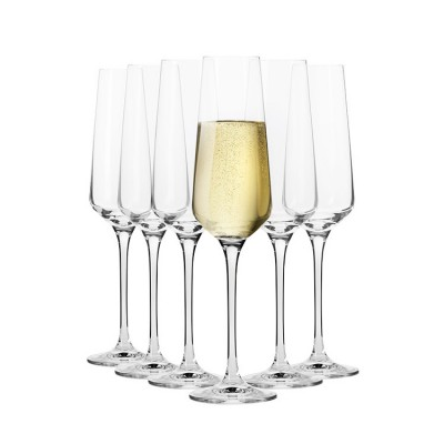 Krosno Set of 6 Flair Champagne Flute 180ml
