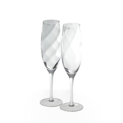 Krosno Set of 2 Silhouette Champagne Flute