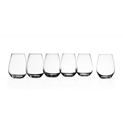 Krosno Set of 6 Vinoteca Stemless White Wine Glass