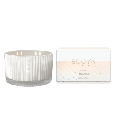 Ecoya White Musk & Warm Vanilla Grand Celebration Jar | CELE03