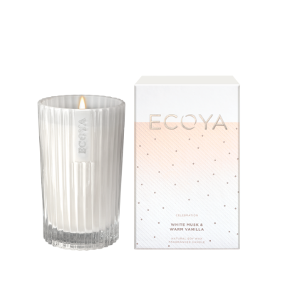 Ecoya White Musk & Warm Vanilla Celebration Candle | CELE02