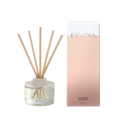 Ecoya Cedarwood & Leather Mini Diffuser | REED210