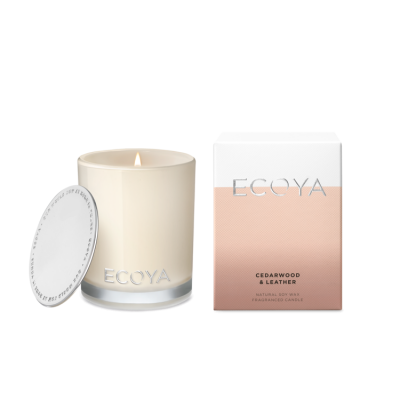 Ecoya Cedarwood & Leather Mini Madison Jar | MINI210