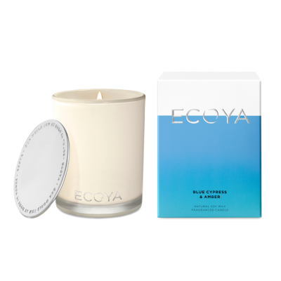 Ecoya Blue Cypress & Amber Madison Jar | MADI208