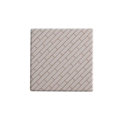Maxwell & Williams Tessellate Ceramic Square Tile Coaster Avenue 9.5cm | DU0035