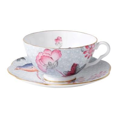Wedgwood Cuckoo Blue Teacup & Saucer Set-1.jpg