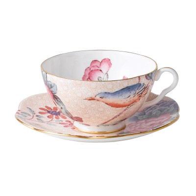 Wedgwood Cuckoo Peach Teacup & Saucer Set