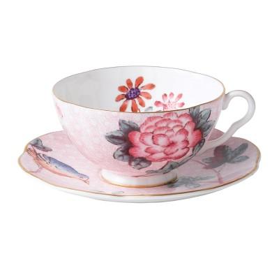 Wedgwood Cuckoo Pink Teacup & Saucer Set-1