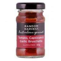 Random Harvest Tomato, Capsicum & Garlic Bruchetta